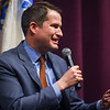 Cong. Seth Moulton speaks at Salem State