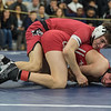 AMANDA SABGA/Staff photo<br /> <br /> Salem's Calvin Dalton pins down Melrose's Hunter Adrian during the 113 weight class championship at the MIAA all-state wrestling meet at St. John's Prep in Danvers. <br /> <br /> <br /> 2/23/19