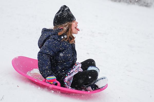 Kids having fun in the snow