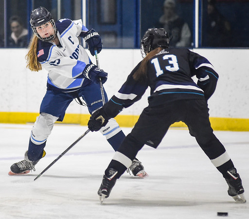 Peabody girls hockey Division 1 home playoff game vs. Plymouth