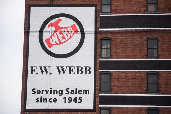 F.W. Webb's exterior was recently repainted in Salem. RYAN MCBRIDE/Staff photo 2/25/20