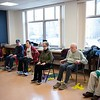 Members of the Strength in Motion class workout Tuesday. Strength in Motion, the Parkinson's Fitness class runs every Tuesday from 11:00 AM to Noon at the Marblehead Council on Aging. RYAN MCBRIDE/Staff photo 2/25/20