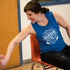 Kim Crowley, ACE Certified personal trainer, leads the Strength in Motion class. The class, created by Parkinson's Fitness, runs every Tuesday from 11:00 AM to Noon at the Marblehead Council on Aging. RYAN MCBRIDE/Staff photo 2/25/20