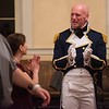 Joe Callaghan, of Westford, cheers with others after a round of dancing. He was dressed as Captain Wentworth, a character in Jane Austen's Persuasion, a book that was published in 1818. The Commonwealth Vintage Dancers hosted the Jane Austen Ball at the Old Town Hall in Salem Saturday evening. RYAN MCBRIDE/Staff photo 2/15/20