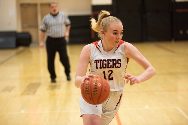 Ipswich's Carter King moves the ball up the court. Ipswich hosted the Amesbury Indians Thursday evening. RYAN MCBRIDE/Staff photo 2/13/20
