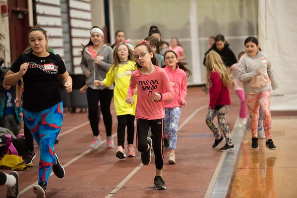 The GHS youth softball started their clinic off with running exercises at Gloucester High School Thursday morning. RYAN MCBRIDE/Staff photo 2/20/20