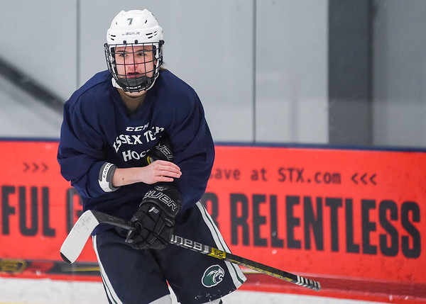 Essex Tech boys varsity hockey practice photos