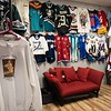 Jersey's adorn the walls of The Felt Fanatic on Mason Street in Salem. RYAN MCBRIDE/Staff photo 2/20/20