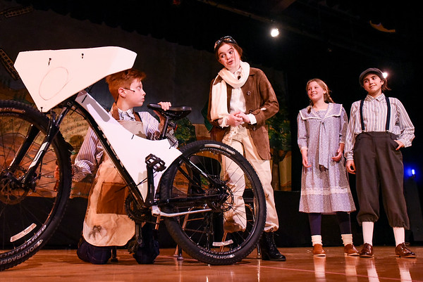 """Rehearsals for """"Chitty Chitty Bang Bang"""" in Danvers"""