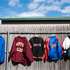 Jackets and sweatshirts hang outside of The Felt Fanatic. RYAN MCBRIDE/Staff photo 2/20/20