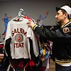 Zach Goodman rearranges some clothing inside of The Felt Fanatic in Salem. RYAN MCBRIDE/Staff photo 2/20/20