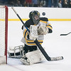 Bishop Fenwick goalie Cailyn Wesley blocks an attempted goal in their game against Peabody at the McVann-O'Keefe Skating Rink. 1/27/17
