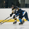 Bishop Fenwick's Caitlin Carney fights Peabody's Mae Norton for the puck in their game at the McVann-O'Keefe Skating Rink. 1/27/17