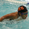 HADLEY GREEN/Staff photo<br /> Beverly's Simone French swims at the Marblehead v. Beverly swim meet at the Lynch van Otterloo YMCA pool in Marblehead.<br /> <br /> 1/11/17
