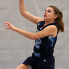 HADLEY GREEN/Staff photo<br /> Peabody's Kristina Rossignoll (12) shoots at the Danvers v. Peabody girls basketball game at Danvers High School. <br /> <br /> 01/03/17