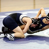 HADLEY GREEN/Staff photo<br /> St. John's Prep's Quinn Alexander wrestles Malden Catholic's Andy Truong at the St. John's Prep v. Malden Catholic wrestling match at St. John's Prep.<br /> <br /> 1/10/17