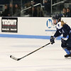 HADLEY GREEN/Staff photo<br /> Peabody's Kaydee Purcell (21) skates to the net at the Beverly v. Peabody girls hockey game at Endicott College.<br /> <br /> 1/06/17