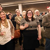 HADLEY GREEN/Staff photo<br /> Guests of retiring fire chief Bob Blanchard laugh at a video that was put together as a tribute to his career.<br /> <br /> 01/17/18