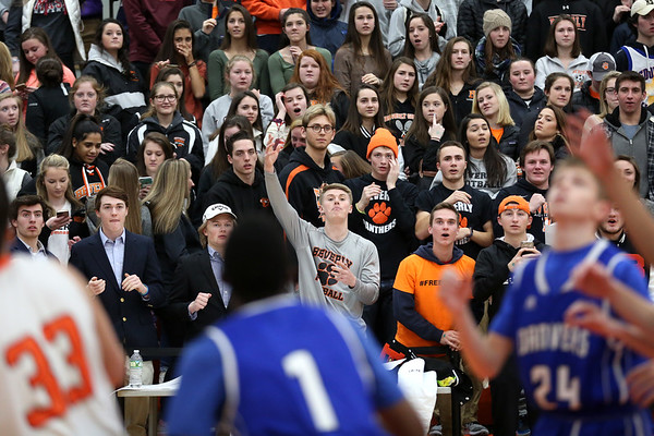 HADLEY GREEN/Staff photo<br /> Beverly fans came out in full force for the Beverly v. Danvers boys basketball game at Beverly High School.<br /> <br /> 01/05/17