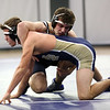 HADLEY GREEN/Staff photo<br /> St. John's Prep's Zach Alexander wrestles Malden Catholic's Will Tosi at the St. John's Prep v. Malden Catholic wrestling match at St. John's Prep.<br /> <br /> 1/10/17