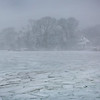 HADLEY GREEN/Staff photo<br /> Marblehead's coast churned with ice and snow during Thursday's blizzard.<br /> <br /> 01/04/17