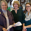 "HADLEY GREEN/Staff photo<br /> From left, Pippy Giuliano of Gloucester, author Diane Polley of Essex and April Wanner of Essex attend the Cape Ann Reads community fair at Gloucester City Hall. Polley is the author of ""Let's Go Animal Tracks in the Snow.""<br /> <br /> 01/27/18"