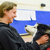 Certified therapy dogs at Danvers High