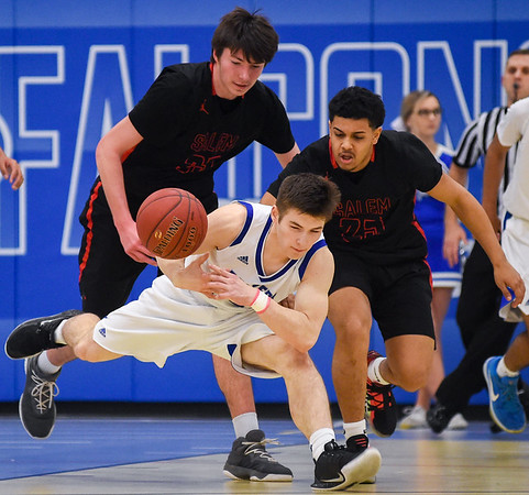 Salem at Danvers boys varsity basketball game