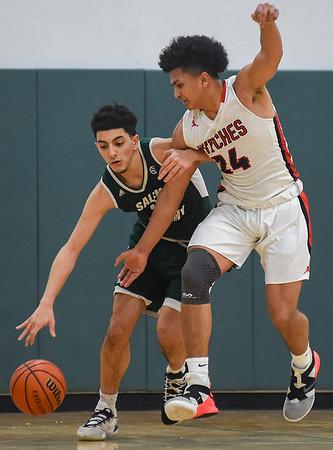 Salem High School vs Salem Academy boys basketball