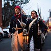 Glover's Marblehead Regiment marches to Burial Hill. Glover's Marblehead Regiment joined at the Old Town House and marched to Burial Hill in honor of the contributions and sacrifices of Marblehead residents during the Revolutionary War. RYAN MCBRIDE/Staff photo 2/1/20