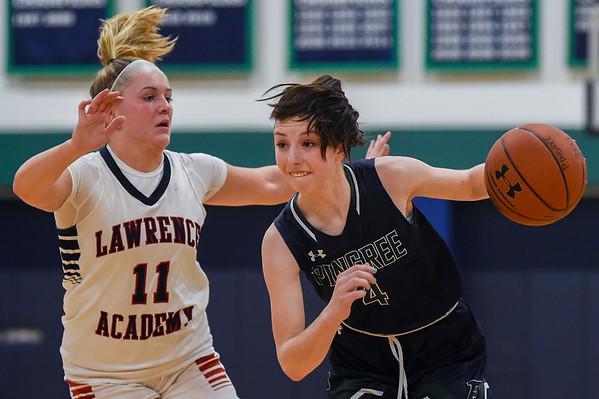 Pingree girls varsity basketball vs. Lawrence Academy