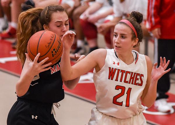 Marblehead at Salem varsity girls basketball game