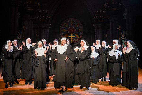 Dress rehearsals for Sister Act at the Salem High School