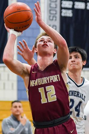 Newburyport at Hamilton-Wenham boys varsity basketball game