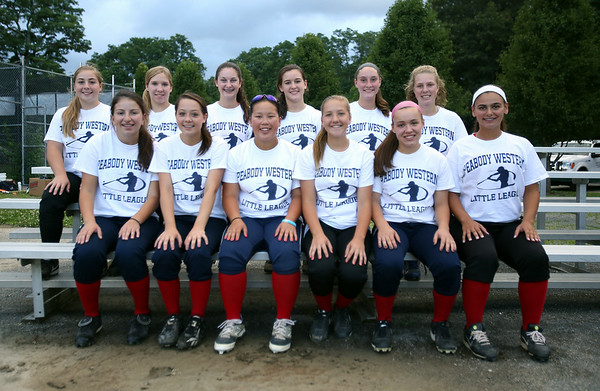 The Peabody West Softball All-Star team will look to make some noise in the upcoming Regional action in Orange, CT. DAVID LE/Staff photo. 7/28/14.