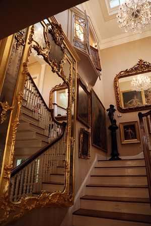 DAVID LE/Staff photo. The inside of the Henry Audesse estate on Larch Row in Wenham was open for all potential bidders to browse through the mansion and see some of the beautiful items being auctioned off. 7/1/16.