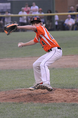 TIM JEAN/Staff photo Beverly's Joe Kotwicki throws a pitch against Andover during the Section 4 Little League all-star championship game.  7/23/16