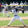 HADLEY GREEN/ Staff photo<br /> Hamilton-Wenham pitcher Zack Webber (22) winds up at the Beverly v. Hamilton-Wenham little league playoff game at the Harry Ball Field in Beverly. 7/08/17