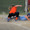 RYAN HUTTON/ Staff photo<br /> Peabody's Emma Bloom slides safely into home to score in the bottom of the fourth inning of Thursday's game against Woburn at the Lt. Ross Park.