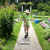 HADLEY GREEN/Staff photo<br /> Kara Noyes, a horticulture science student at UMass Amherst, is working a summer job at the Glen Magna gardens in Danvers. 7/28/17