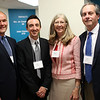 HADLEY GREEN/Staff photo<br /> From left, Stephen Drohosky, vice president of Cummings Properties, Justin D'Aveta of Cummings Properties, Martha Farmer, president and CEO of North Shore InnoVentures, and Brad Curley, chairman of North Shore InnoVentures, attend the North Shore InnoVentures ribbon cutting ceremony at the company's new space in the Cummings Center in Beverly. 7/27/17