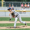 AMANDA SABGA/Staff photo<br /> <br /> Hamilton-Wenham's Gian Gamelli (7) pitches during a game against Danvers National at the Harry Ball Field in Beverly.<br /> <br /> 7/7/18
