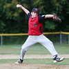 HADLEY GREEN/Staff photo<br /> Casey McGrath (14) pitches for Salem at their Little League game against Lynnfield at Pine Hill in Lynn.<br /> <br /> 07/10/2018