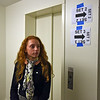 "RYAN HUTTON/ Staff photo<br /> Margo Tsouvalas, 14, an incoming freshman at the Academy at Penguin Hall in Wenham, waits in the hallway of the school to act as an extra during the filming of the movie ""Selah and the Spades"" at the school on Wednesday."