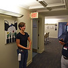 "RYAN HUTTON/ Staff photo<br /> The Academy at Penguin Hall senior Emma Fringuelli, 17, works as a production intern of the set of ""Selah and the Spades"", a feature film being shot on the school campus in Wenham on Wednesday. At right is the school's director of advancement and communication Dean Tsouvalas."