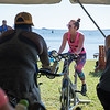 AMANDA SABGA/Staff photo<br /> <br /> Fae Morrissey leads a spin class during the 5th Annual Paddle for Plummer fundraiser for Plummer Youth Promise.<br /> <br /> 7/7/18