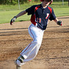 HADLEY GREEN/Staff photo<br /> Peabody West's Ty Zito (13) rounds third base at the Little League District 16 championship game between Peabody West and Lynnfield at the Reinfuss Field in Lynn. <br /> <br /> 07/12/2018