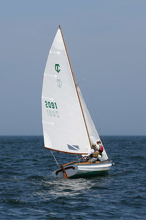 HADLEY GREEN/Staff photo<br /> Wabi Sabi, Charley Morrow's Town Class boat from Marblehead, lines up to race at the Helly Hansen NOOD Regatta at Marblehead Race Week. <br /> <br /> 07/27/2018