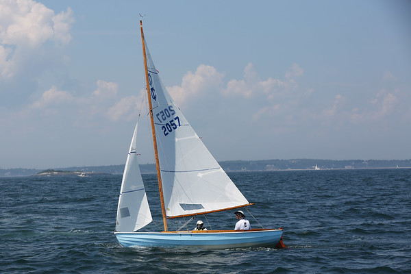 HADLEY GREEN/Staff photo<br /> Rogue, Adam Cook's Town Class boat from Marblehead, prepares to race at the Helly Hansen NOOD Regatta at Marblehead Race Week. <br /> <br /> 07/27/2018