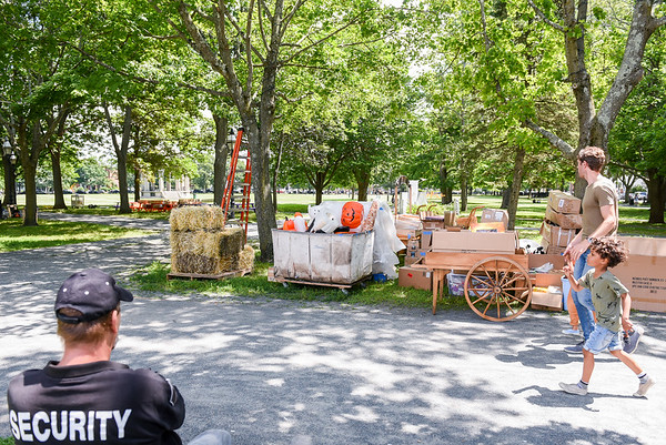 """""""Hubie Halloween"""" set up for filming in Salem and Marblehead"""